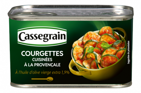 Provençale cooked Zucchinis Cassegrain 400g
