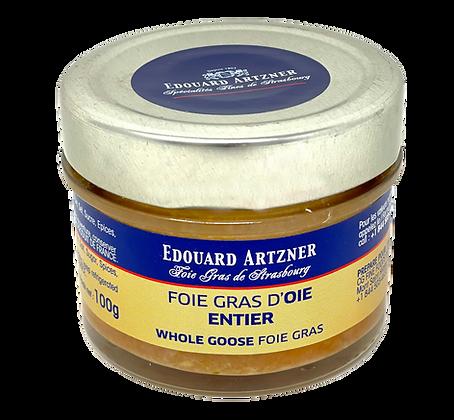 Whole goose foie gras Edouard Artzner 100g