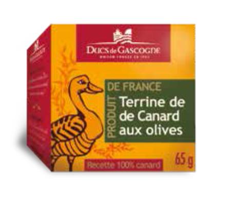 Duck terrine with olives Ducs de Gascogne 4 x 65g
