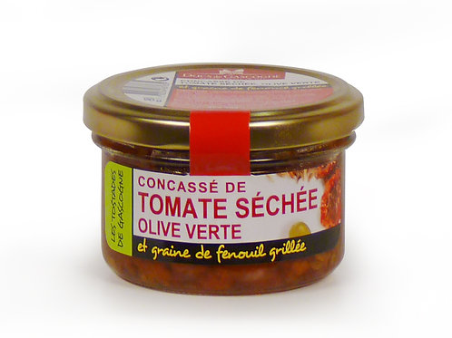 Died tomato puree with green olive 90g - DUCS DE GASCOGNE