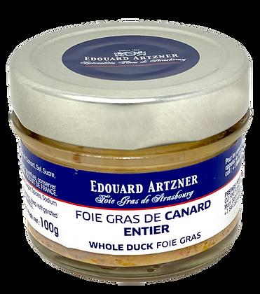 Whole duck foie gras Edouard Artzner 100g