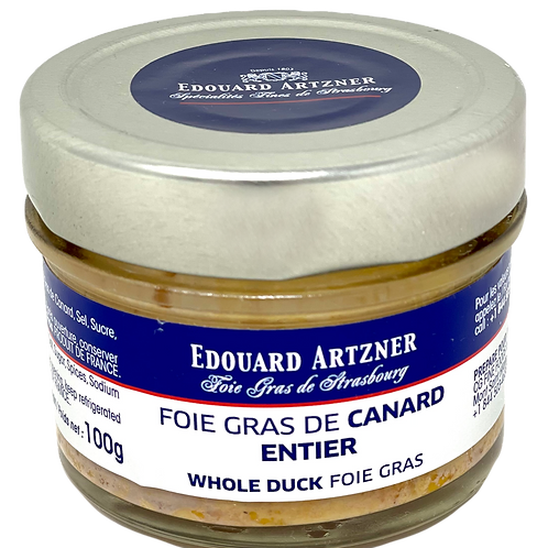 Whole Duck Foie Gras / Foie Gras de Canard Entier Edouard Artzner 100g