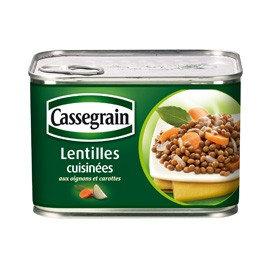Cooked Lentils Cassegrain 375g x 2