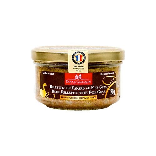 Rillettes de Canard Foie Gras / Duck Rillettes Foie Gras 120g - DUCS DE GASCOGNE