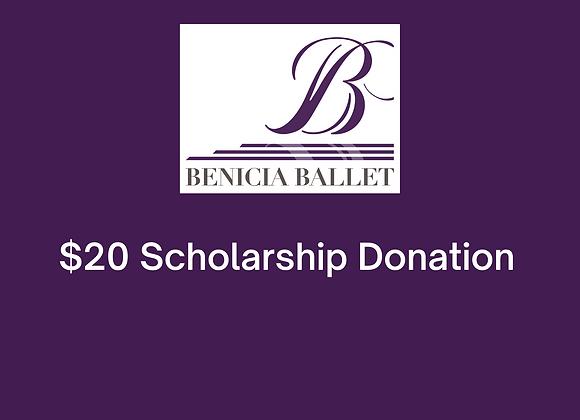 $20 Scholarship Donation