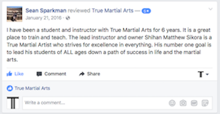 Sparkman Facebook Review