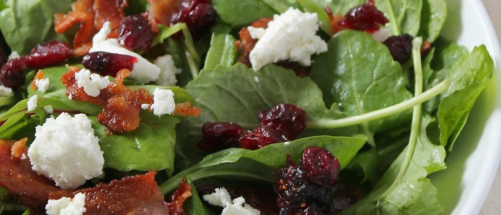 Fall Mixed Green Salad (per 2 servings)