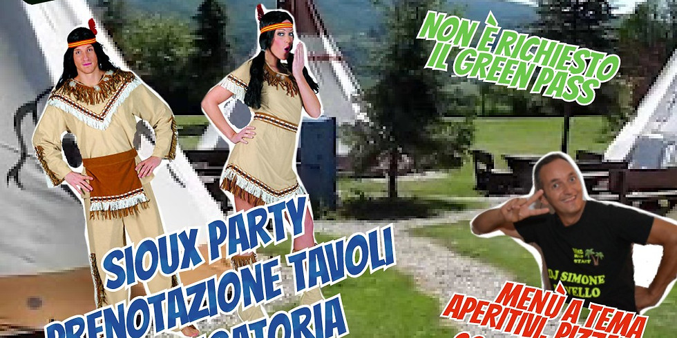 SABATO 21 AGOSTO 2021 EDEN VIVERONE SIOUX PARTY NON È RICHIESTO IL GREEN PASS