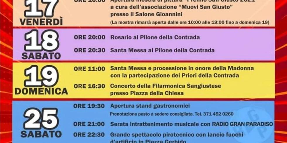 Sabato 25 Settembre 2021 San Giusto Canavese Stember al Zerb Spettacolo Pirotecnico, Stand Gastronomici e musica