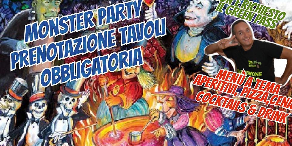 Mercoledì 15 SETTEMBRE 2021 EDEN VIVERONE MONSTER PARTY POSSIBILITÀ di cenare con menù il super aperitivo eden