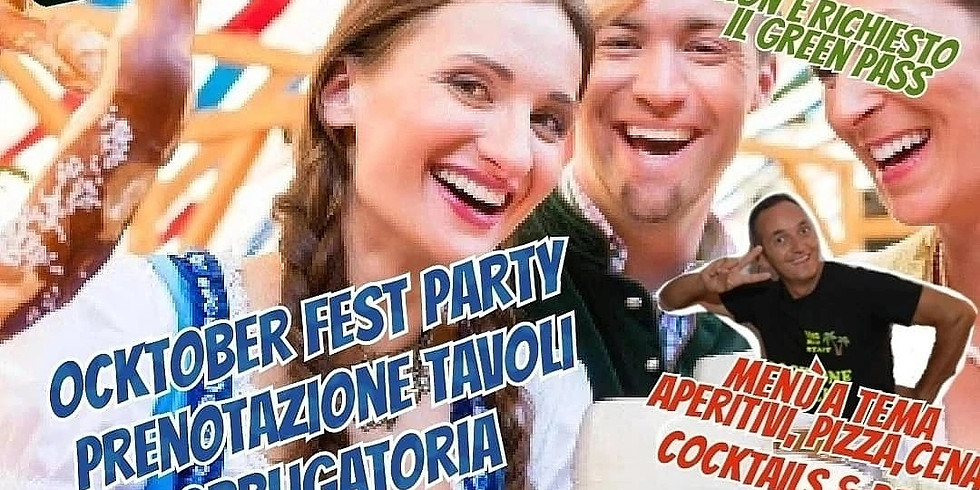Sabato 25 Settembre 2021 EDEN VIVERONE OKTOBER FEST PARTY MENÙ A TEMA OKTOBER FEST PRENOTAZIONE TAVOLI eden Viverone