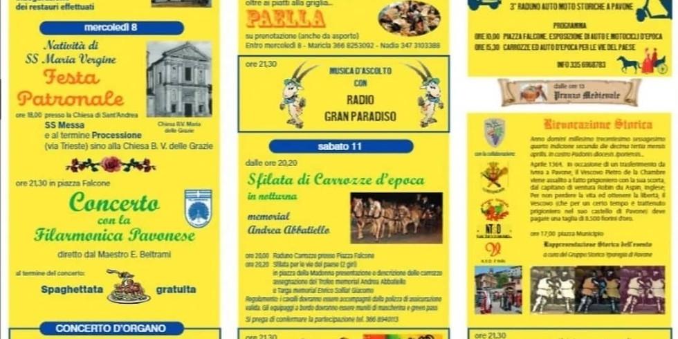 VENERDÌ 10 SETTEMBRE 2021 Pavone Canavese (To) cena della paella