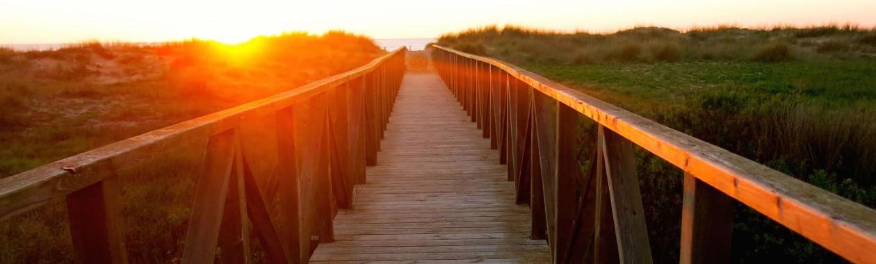 sunset from the beach walk