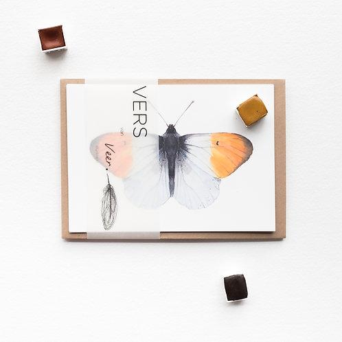 Set van 5 vlinderkaarten
