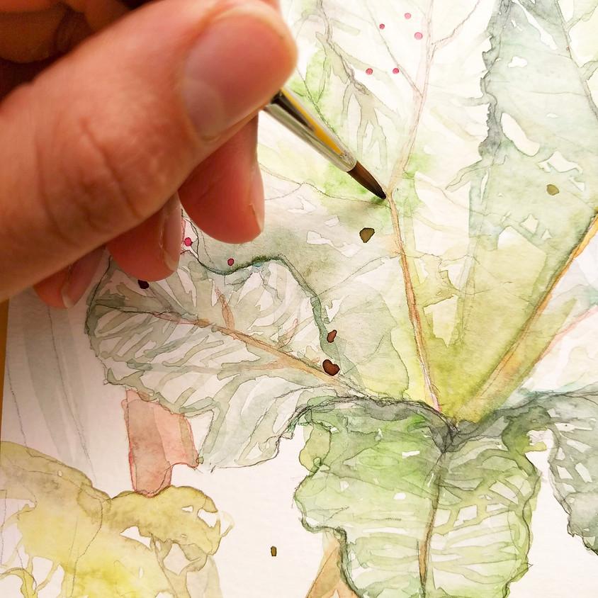 Watercolour workshop: Urban Jungle Delft (VOL) (1)