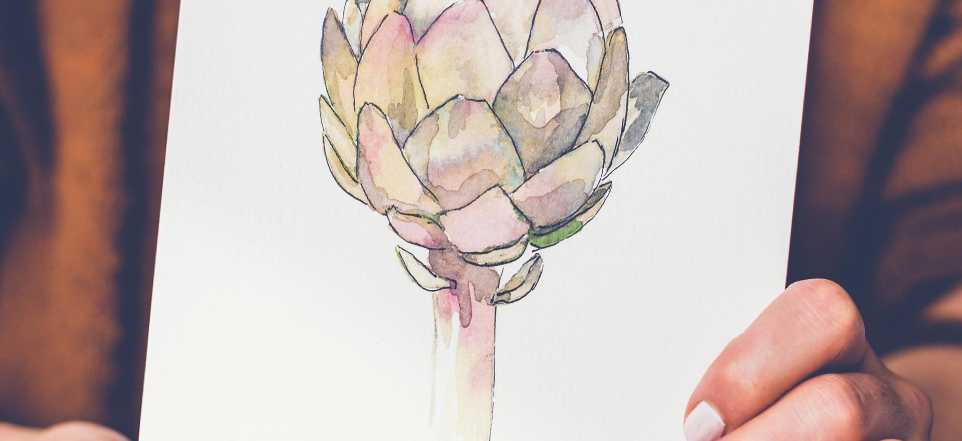 Veer illustratie artisjok print