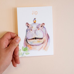 Geboortekaartje nijlpaard
