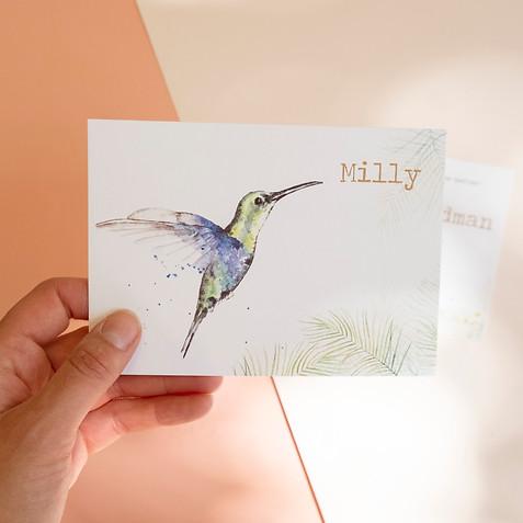 Geboortekaartje kolibrie