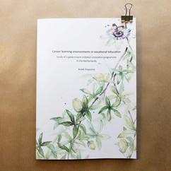 Proefschrift kaft ontwerp