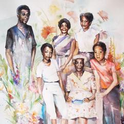 Familieportret aquarel