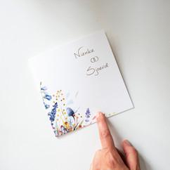 Trouwkaart veldbloemen
