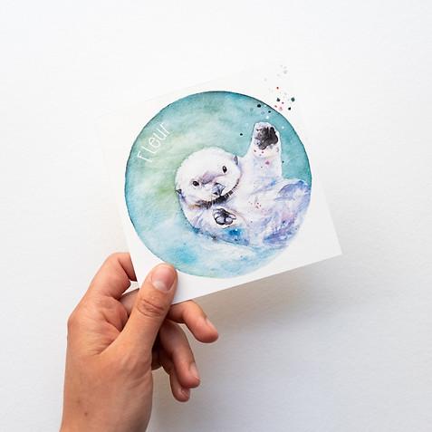 Otter geboortekaartje