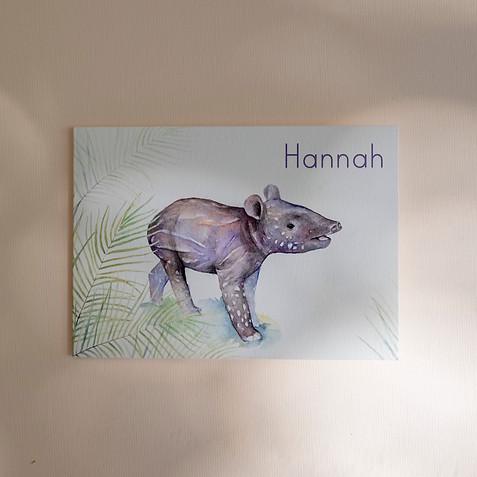 Geboortekaartje Tapir