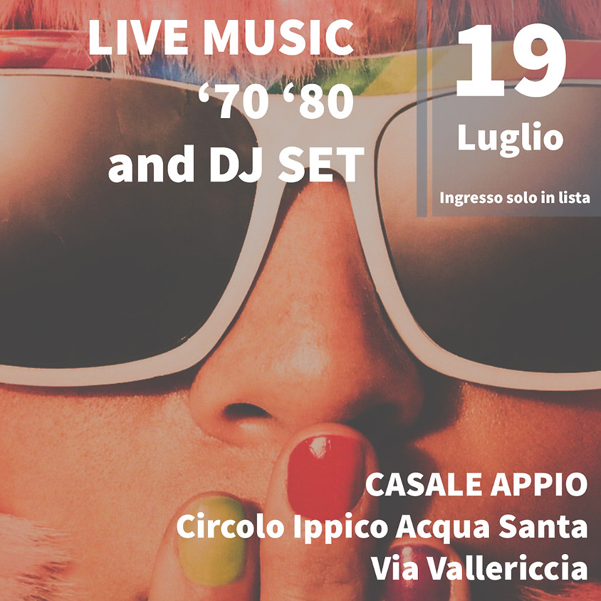 Live Music '70 '80 e DJ SET