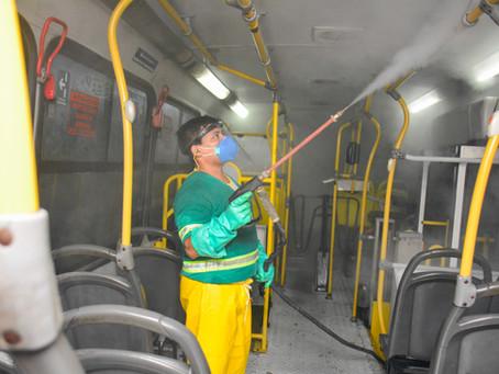 IMMU realiza fiscalização para verificar a sanitização dos ônibus do sistema de transporte