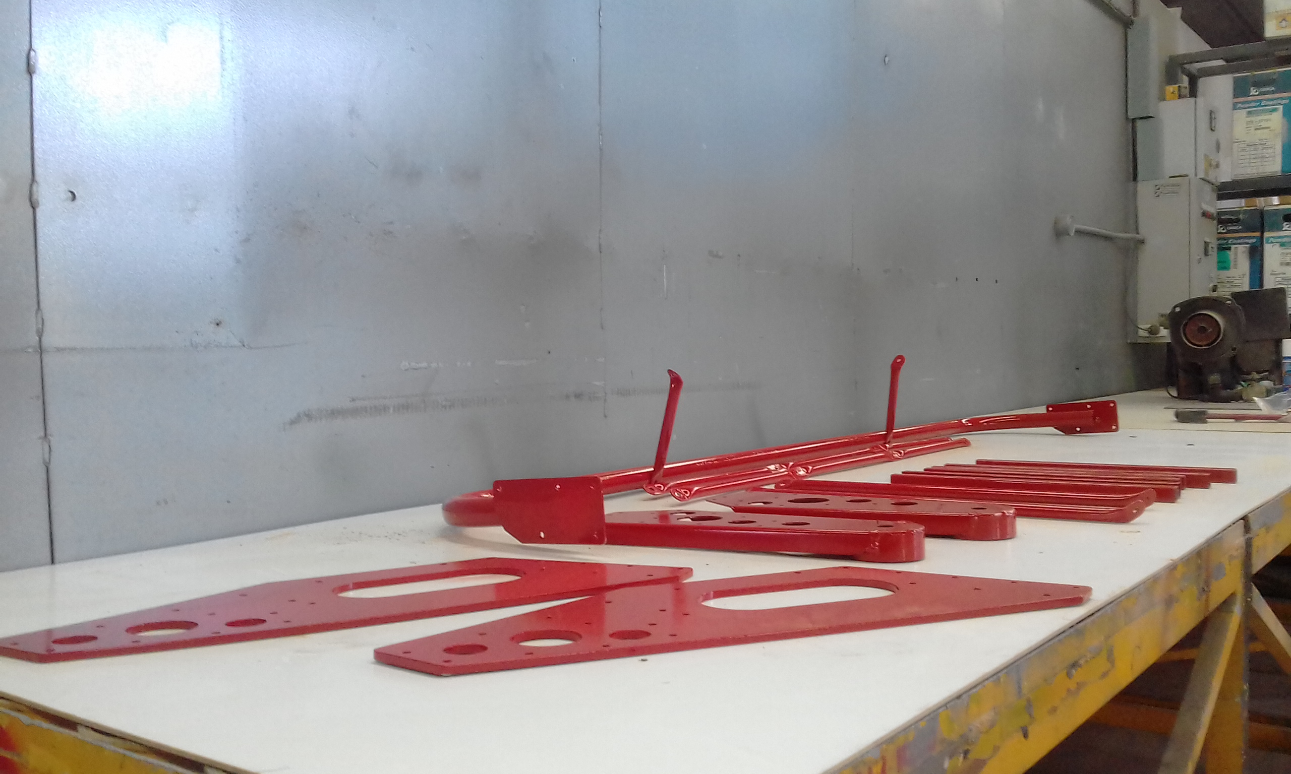 Powder coating - Flame red - MISC Parts