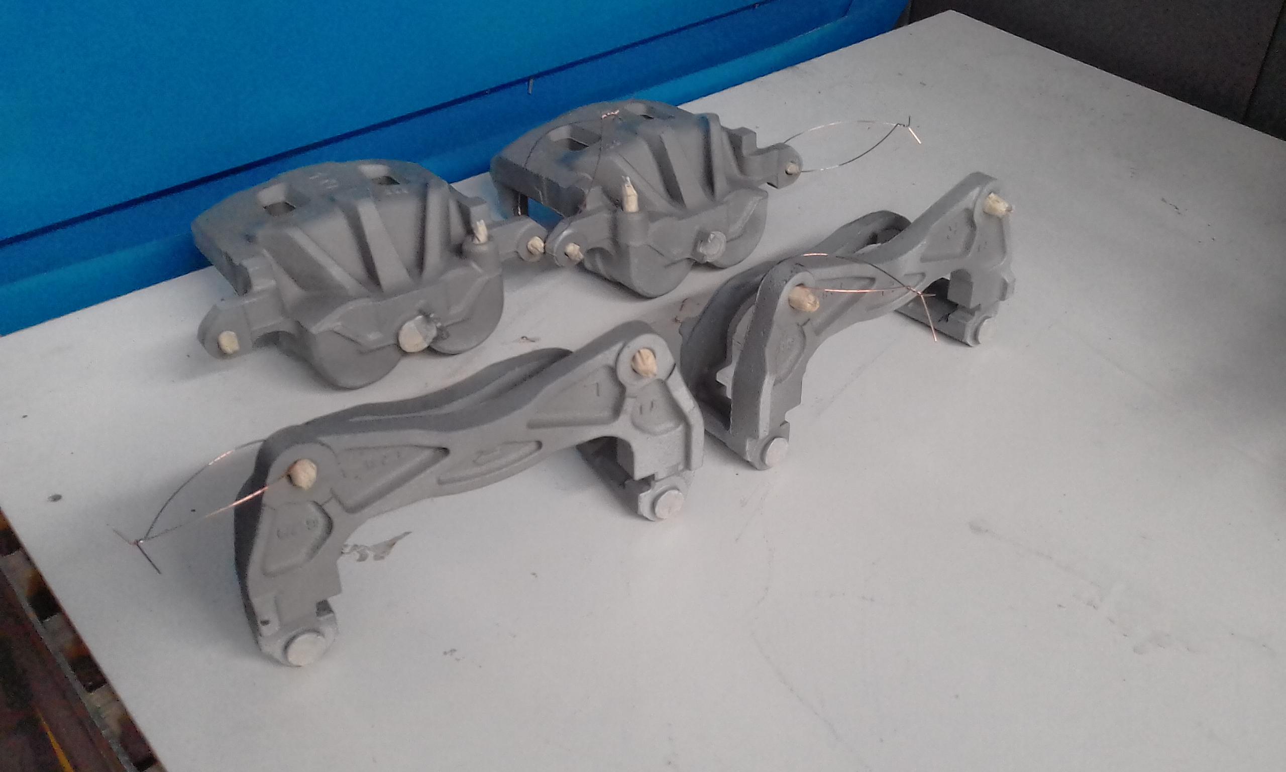 Abrasive blasting - subaru brake units
