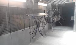 Powder coating - Oxytec Satin black - Patio furniture