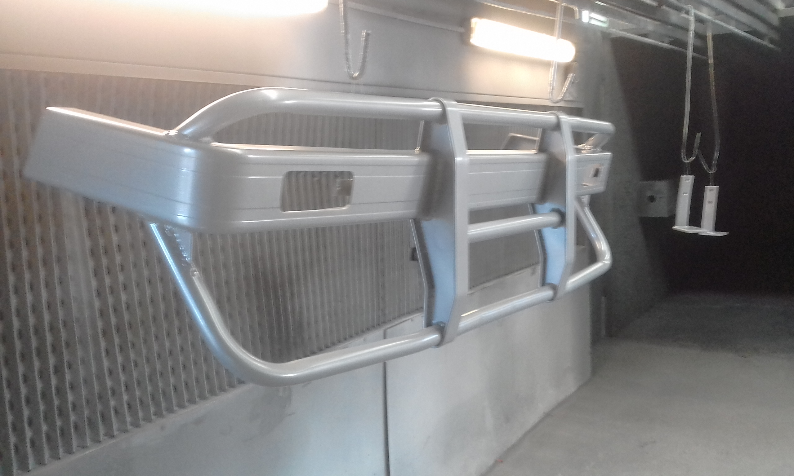 Powder coating - Oxytech silver pearl - Bull bar