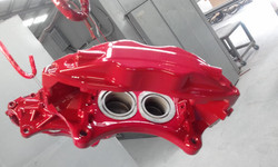 Powder coating - oxytec flame red - Brembos referb