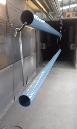 Powder coating - Wedgewood - 6m poles for canvas sails