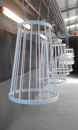 Powder coating - Pearl white - Custom tables