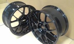 Powdercoat - Oxytec Jet black - BBS wheels 4