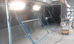 Powder coating - Gate frames, prep