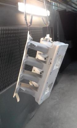 Abrasive blasting and detaile masking of LS2 RAM intake