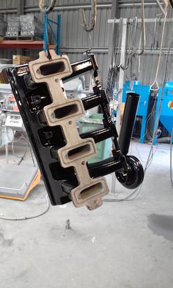 Powder coating - Oxytec Wet Black - LS2 RAM intake 2
