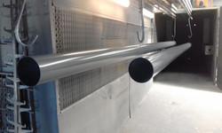 Powder coat - Slate gray , woodland gray - 6m poles for canvas sails