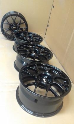 Powdercoat - Oxytec Jet black - BBS wheels 3