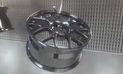 Powdercoat - Oxytec Jet black - BBS wheels