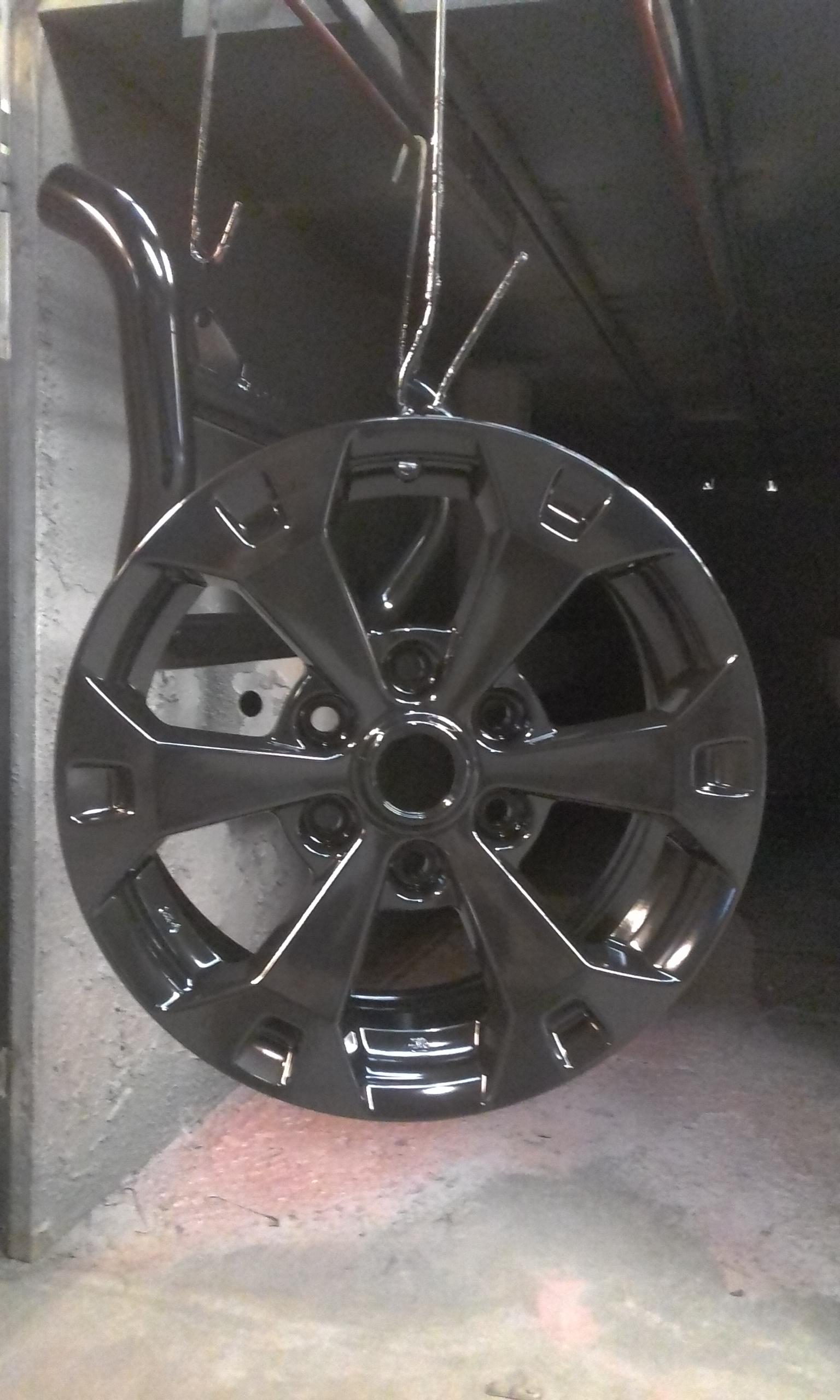 Powder coating - Satin black dbr cure - Triton wheels