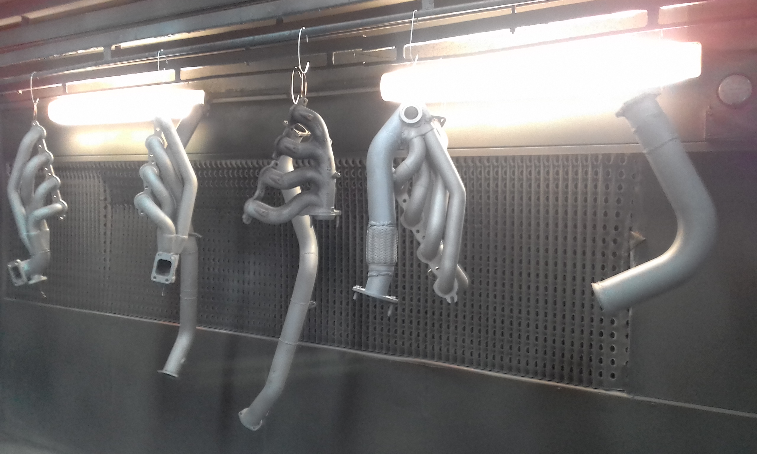Ceramic coating prep - Parts hung for outgassing