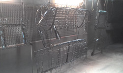 Powder coating - Oxytec Satin Black - Ford seat frames for REAL STEEL