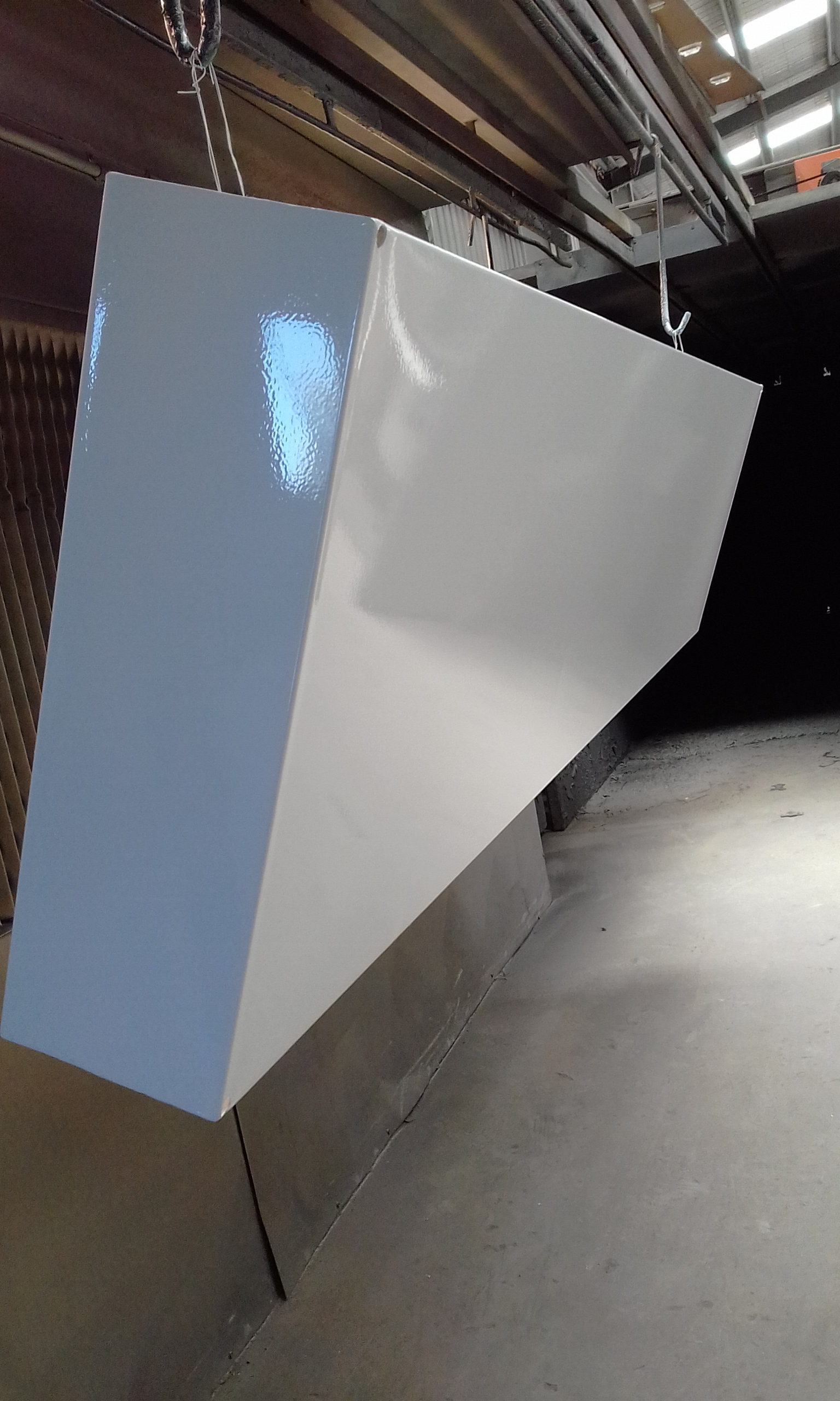 Powder coated - Oxytec Pearl white - HVAC Boxing