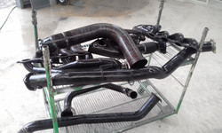 Ceramic coating preperation - cleaning of used parts before blasting