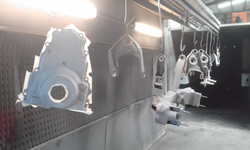 Abrasive blasting - torana front end and LS1 Timing case