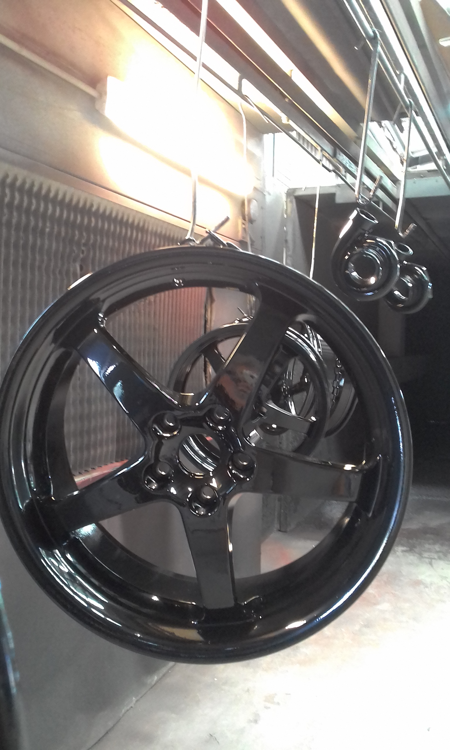 Powder coat - Oxytec Wet Black - HP Designs & Turbos